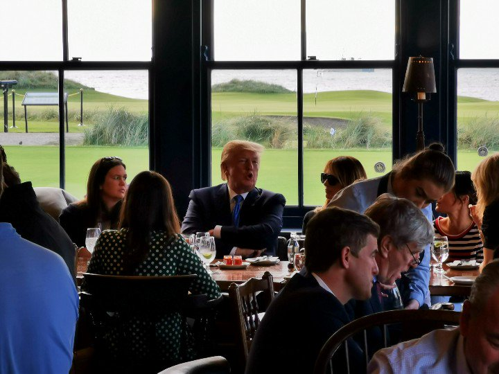 President Trump Enjoying Doonbeg